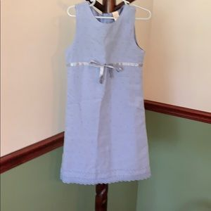 Little girls light blue dress